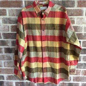 Orvis Plaid Brushed Cotton Shirt Large